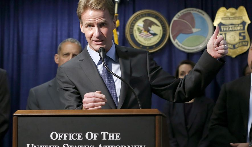 "U.S. Attorney Zachary T. Fardon talks about the sentencing of Mexico-based Sinaloa Cartel members, twin brothers Pedro and Margarito Flores, Tuesday, Jan. 27, 2015, in Chicago. Fardon characterized the Flores brothers cooperation as extraordinary. He says their reduced sentences, to 14 years, should illustrate to criminals that, ""You can right some of what you did wrong, by helping the government."" (AP Photo/Charles Rex Arbogast)"