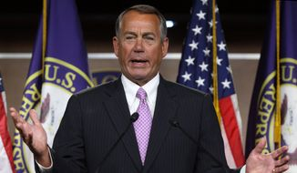House Speaker John A. Boehner. (Associated Press) ** FILE **