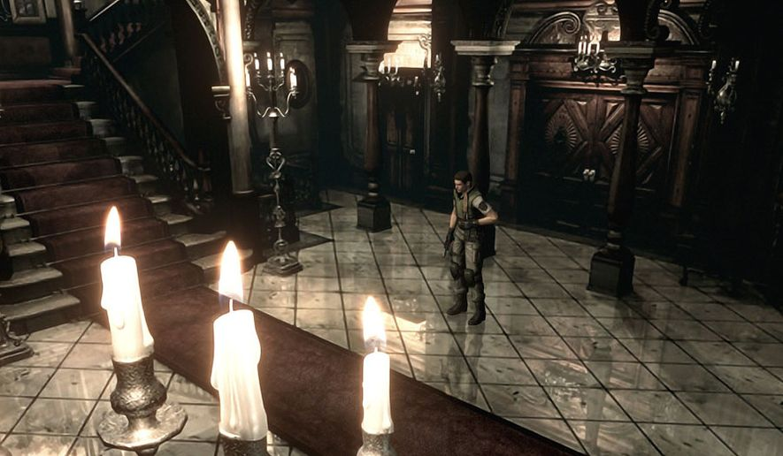 The detail of the famed Spencer mansion is stunning in the new, remastered version of the video game Resident Evil.