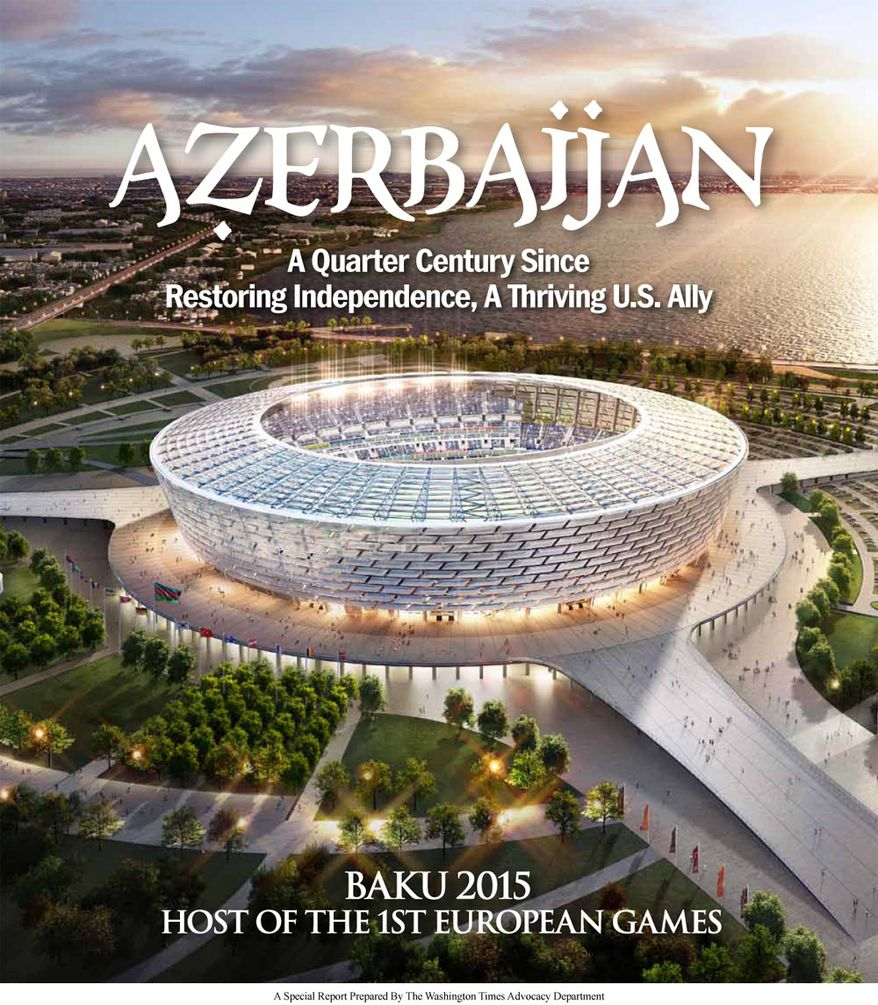 Azerbaijan: A Quarter Century Since Restoring Independence, A Thriving U.S. Ally (cover)  in the January 29, 2015, edition of The Washington Times.