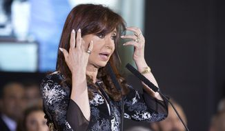 "Argentina's President Cristina Fernandez, who in December leaves office after two full terms, likes to pepper her speeches with a mix of anecdotes, slights and insinuations. She hardly ever talks to reporters, once telling a Georgetown University student that ""rulers are not there to answer"" questions. (Associated Press)"