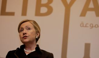 The gap between Hillary Rodham Clinton's rhetoric warning of a Rwanda-like slaughter of civilians in Libya and the facts gathered by career intelligence staff is taking on significance as the former secretary of state prepares another bid for the White House and her national security credentials are re-examined. (Associated Press)