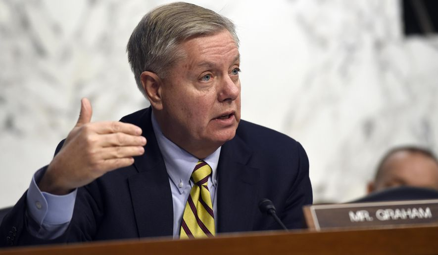 Sen. Lindsey Graham, R-S.C., speaks on Capitol Hill in Washington in this Jan. 28, 2015, file photo. (AP Photo/Susan Walsh) ** FILE **