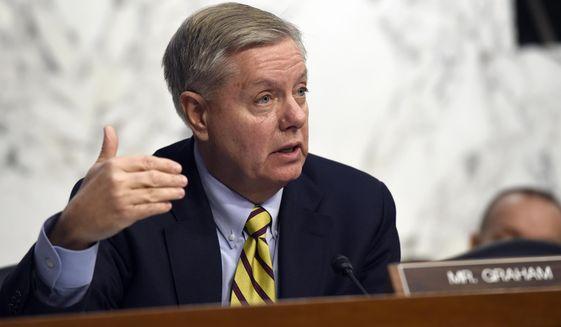 Sen. Lindsey Graham, R-S.C., speaks on Capitol Hill in Washington in this Jan. 28, 2015, file photo. (AP Photo/Susan Walsh) ** FILE **
