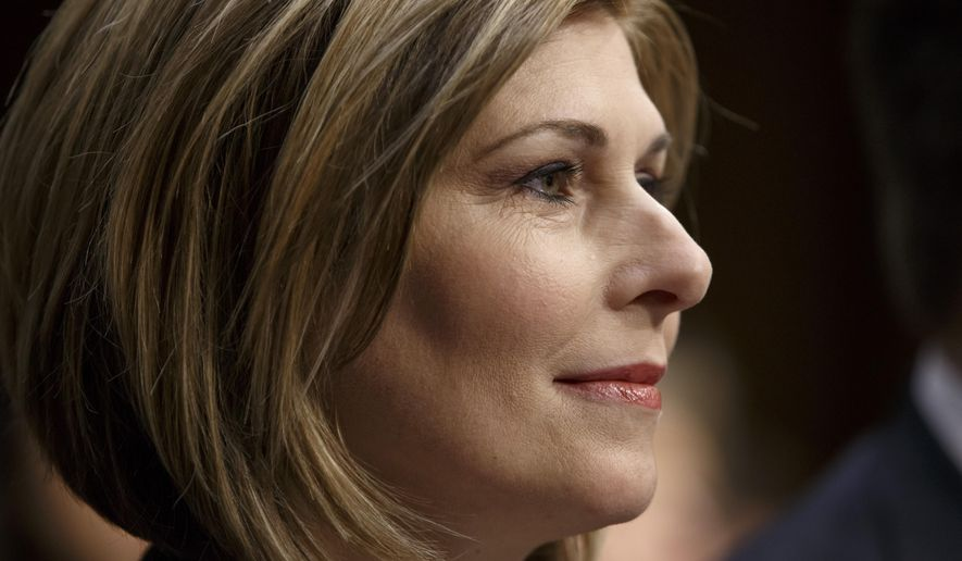 Investigative reporter Sharyl Attkisson testifies before the Senate Judiciary Committee as it continues for a second day on the confirmation of President Barack Obama's nomination of Loretta Lynch to be attorney general, on Capitol Hill in Washington, Thursday, Jan. 29, 2015. Lynch did not appear at the second and final day of her confirmation hearing, which was designed instead to feature testimony from outside experts, several summoned by Republicans to amplify their criticism of Obama and his current attorney general, Eric Holder. Republicans deride Holder as a liberal firebrand and Obama cheerleader who has failed to cooperate with Congress.   (AP Photo/J. Scott Applewhite)