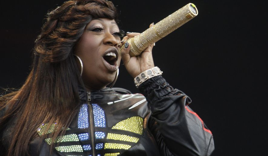 "FILE - In this Saturday, July 3, 2010 file photo, Missy Elliot performs onstage at the Wireless Festival in Hyde Park, London. Missy Elliott is going to ""Work It"" at the Super Bowl with Katy Perry. A person familiar with the plans for Sunday's halftime show tells The Associated Press that Grammy winner Elliott is slated to make a surprise appearance during Perry's performance, Thursday, Jan. 29, 2015. (AP Photo/Joel Ryan, File)"