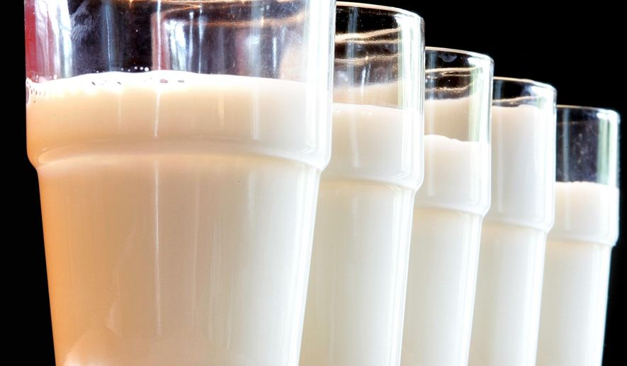 This Tuesday, July 31, 2007 file photo shows glasses of milk in Frankfurt. (AP Photo/Michael Probst)