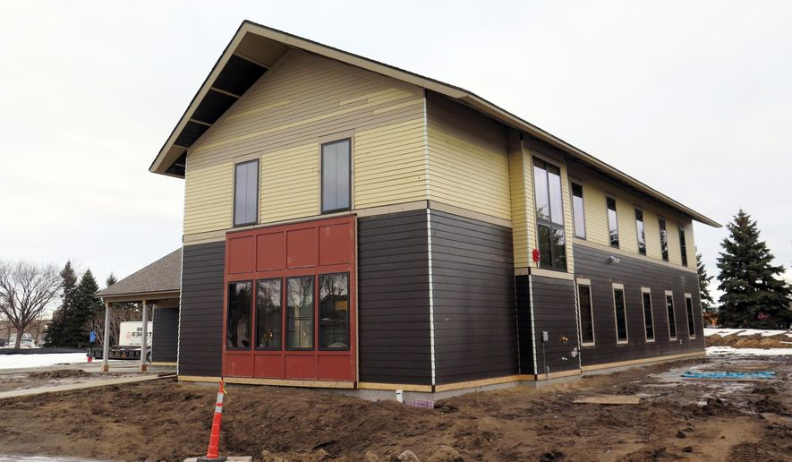 This Jan. 26, 2015 photo shows a teen shelter in Brooklyn Park, Minn.  The shelter will take in homeless young people ages 16 to 20 who can't find a safe place to stay. Brooklyn Park spent nearly $1 million to build the facility, which will be run by Minneapolis nonprofit Avenues for Homeless Youth.  (AP Photo/Minnesota Public Radio, Sasha Aslanian  )