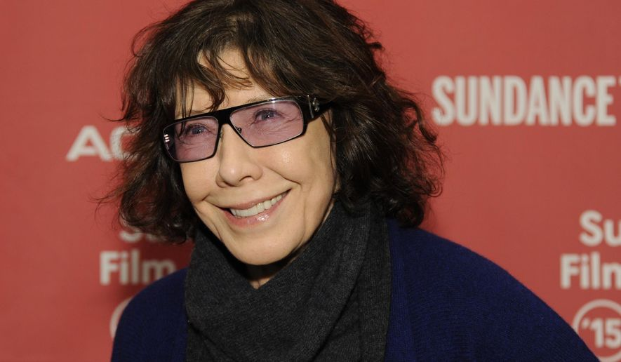 "Lily Tomlin, a cast member in ""Grandma,"" arrives at the premiere of the film at the Eccles Theatre during the 2015 Sundance Film Festival on Friday, Jan. 30, 2015, in Park City, Utah. (Photo by Chris Pizzello/Invision/AP)"