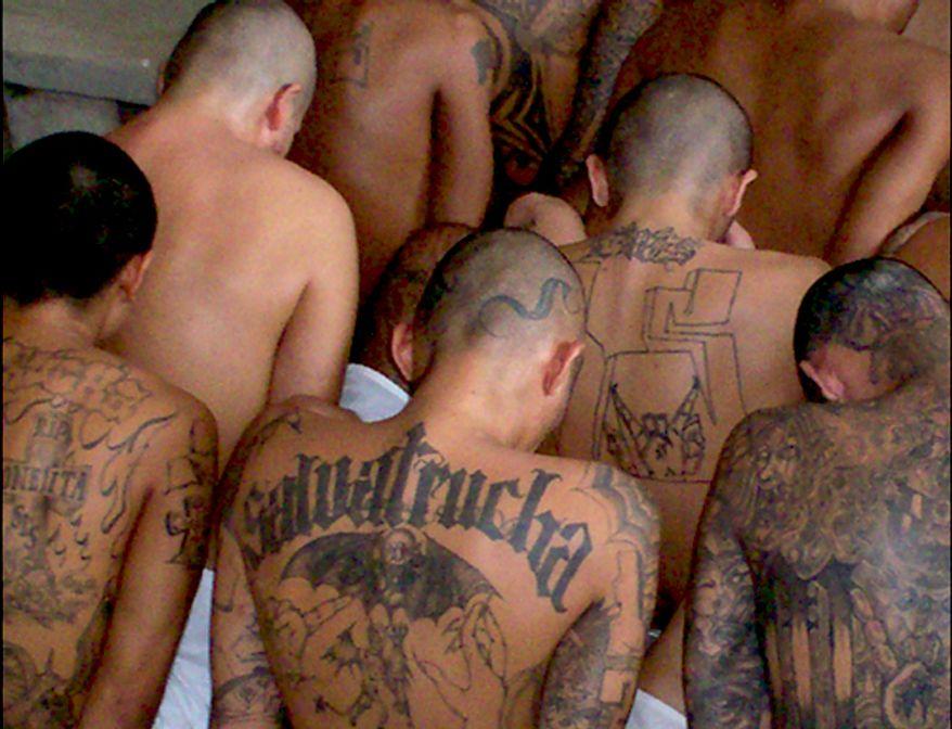 Incarcerated gang members. (Image: FBI)
