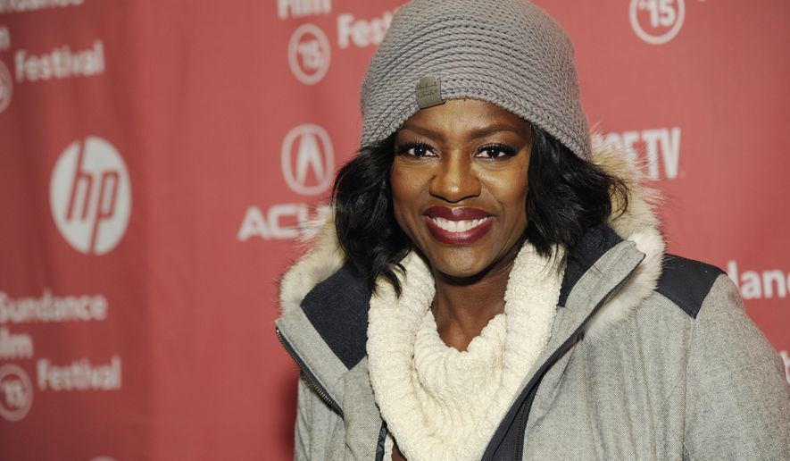 """Viola Davis, a cast member in """"Lila & Eve,"""" poses at the premiere of the film at the Eccles Theatre during the 2015 Sundance Film Festival on Friday, Jan. 30, 2015, in Park City, Utah. (Photo by Chris Pizzello/Invision/AP)"""