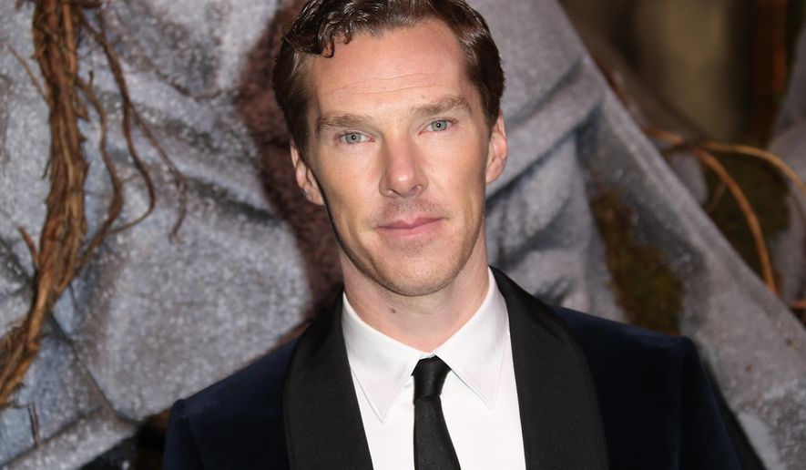 "FILE - In this Monday, Dec. 1, 2014 file photo, actor Benedict Cumberbatch as he poses for photographers upon his arrival at the world premiere of the film The Hobbit, The Battle of the Five Armies in London. Oscar-nominated actor Benedict Cumberbatch has joined others in calling for the British government to pardon gay and bisexual men convicted in the past under the defunct ""gross indecency"" law. Their letter published Saturday Jan. 31, 2015 in the Guardian praises the government for the 2013 pardon of World War II code breaker Alan Turing, whom Cumberbatch portrays in the movie ""The Imitation Game."" (Photo by Joel Ryan/Invision/AP, File)"