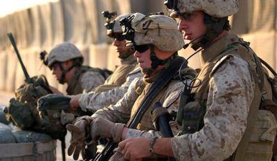 U.S. Marines from 3rd Battalion, 4th Marine Regiment in Husaybah, Iraq, Nov. 3, 2006. (Image: U.S. Marine Corps.) ** FILE **