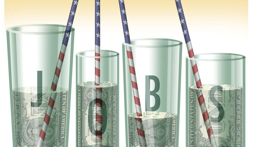 Illustration on Obama's plan to further increase various taxes by Alexander Hunter/The Washington Times