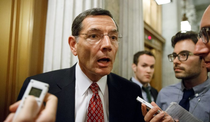 "Sen. John Barrasso, Wyoming Republican, and his GOP colleagues are examining replacements for Obamacare. ""We want to make sure the American people know we're going to be there to help people who are being harmed by the law,"" Mr. Barrasso said. (Associated Press) ** FILE **"