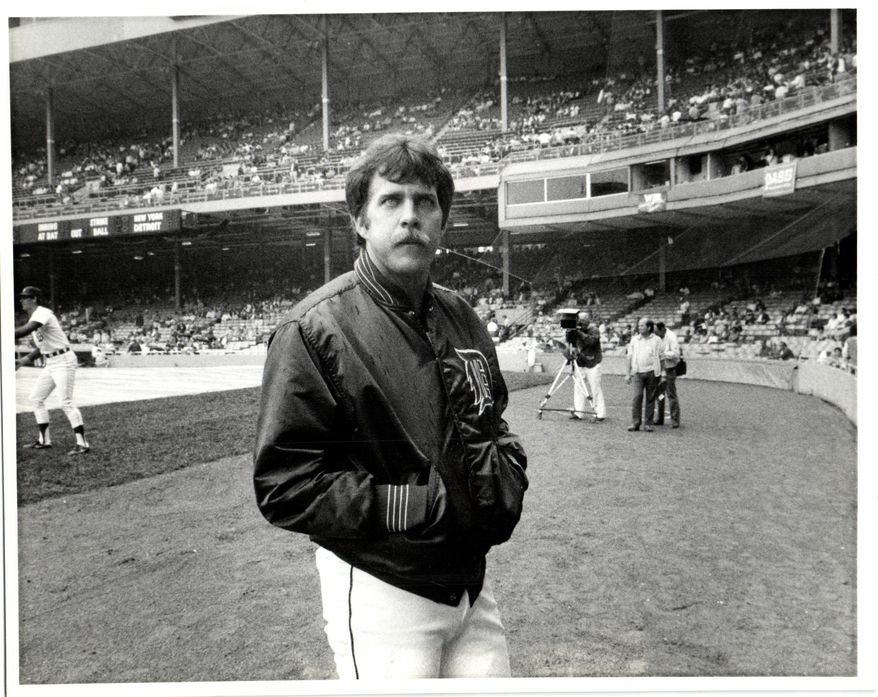 """This undated photo shows Detroit Tigers baseball player Dave Bergman at Tiger Stadium in Detroit. Bergman has died at age 61. The team extended condolences Monday, Feb. 2, 2015, to Bergman's family, calling him """"as spirited a person as he was a player."""" (AP Photo/Detroit Free Press, Mary Schroeder)  DETROIT NEWS OUT;  NO SALES"""