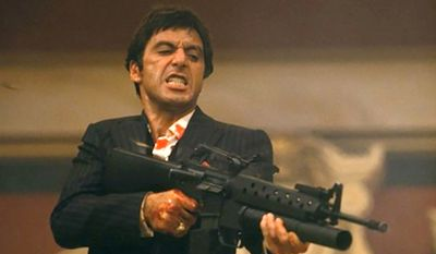 Tony Montana's Little Friend in Scarface: An M161-A complete with an M-203 grenade launcher.