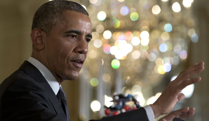 In a Friday, Jan. 30, 2015, file photo, President Barack Obama speaks in the East Room of the White House in Washington. (AP Photo/Carolyn Kaster, File)