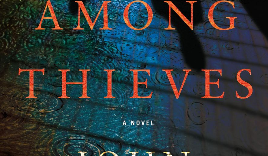 "This book cover image released by Minotaur shows ""Among Thieves,"" a novel by John Clarkson. (AP Photo/Minotaur)"