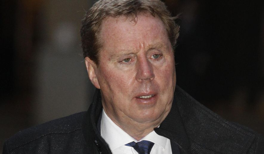 FILE - A Thursday, Jan. 26, 2012 file photo of the then Tottenham Hotspurs soccer club manager, Harry Rednapp in London. Queens Park Rangers says manager Harry Redknapp has resigned. The club is 19th in the English Premier League, but Redknapp says he needs immediate knee surgery. (AP Photo/Lefteris Pitarakis, File)