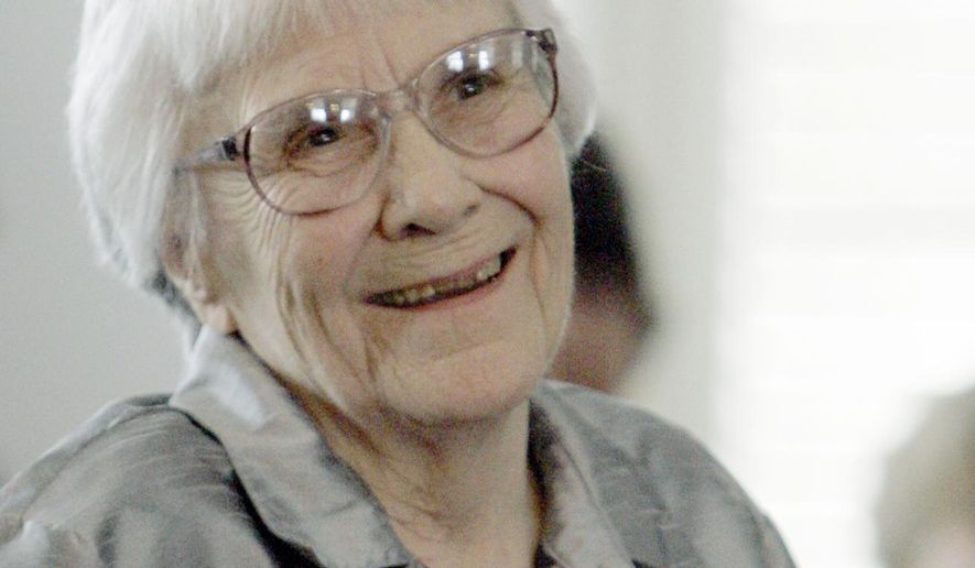 "FILE - In this Aug. 20, 2007, file photo, Harper Lee, author of the Pulitzer Prize-winning novel, ""To kill a Mockingbird,"" smiles during a ceremony honoring the four new members of the Alabama Academy of Honor at the Capitol in Montgomery, Ala. Publisher Harper announced Tuesday, Feb. 3, 2015, that ""Go Set a Watchman,"" a novel Lee completed in the 1950s and put aside, will be released July 14. It will be her second published book. (AP Photo/Rob Carr, File)"