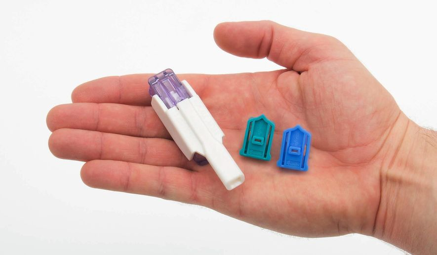 This photo provided by Sanofi shows an Afrezza inhaler with cartridges of inhalation powder. Hoping to appeal to millions of needle-phobic Americans with diabetes, drugmakers Sanofi and Mannkind have just launched Afrezza, an insulin that's inhaled, rather than injected. (AP Photo/Sanofi)