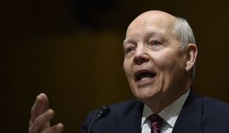 Internal Revenue Service Commissioner John Koskinen testifies on Capitol Hill in Washington, Tuesday, Feb. 3, 2015, before the Senate Finance Committee during a hearing to examine the Internal Revenue Service Operations and the President's proposed budget request for fiscal year 2016. (AP Photo/Susan Walsh)