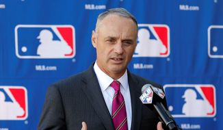 New MLB commissioner Rob Manfred wants to engage more inner-city youth in baseball. (Associated Press)