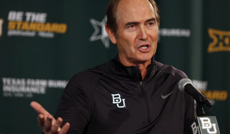 Baylor head football coach Art Briles talks about incoming student athletics during a national signing day press conference, Wednesday, Feb. 4, 2015, in Waco, Texas. (AP Photo/Waco Tribune Herald, Rod Aydelotte)