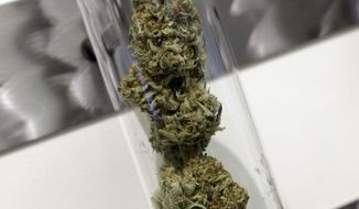 A sample of medical marijuana is displayed at a dispensary in Portland, Ore. (AP Photo/Don Ryan, File)