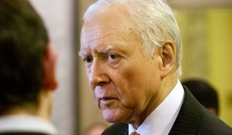 """""""Today we offer a bold bicameral plan that fully repeals and replaces the health care law with reforms that empower patients, not Washington,"""" said Sen. Orrin Hatch, Utah Republican. (Associated Press)"""