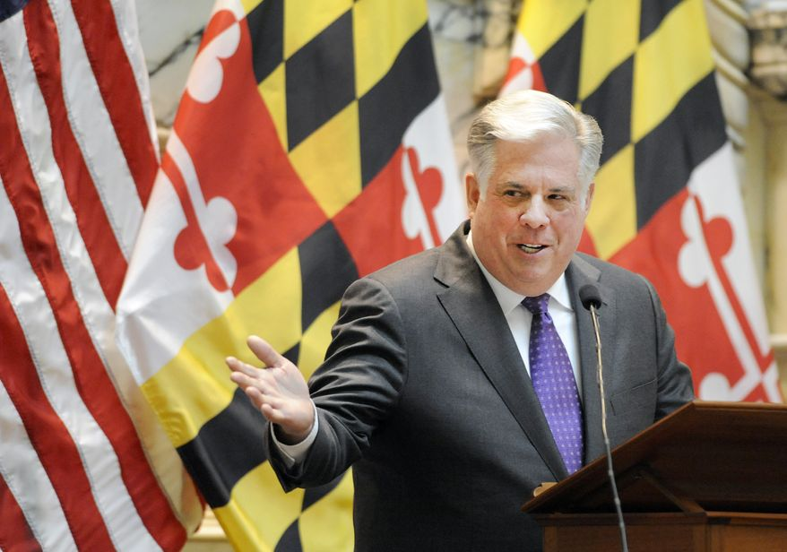 Maryland Gov. Larry Hogan, in his State of the State address in February, outlined plans for reforms to the state's legislative redistricting process. (AP Photo)