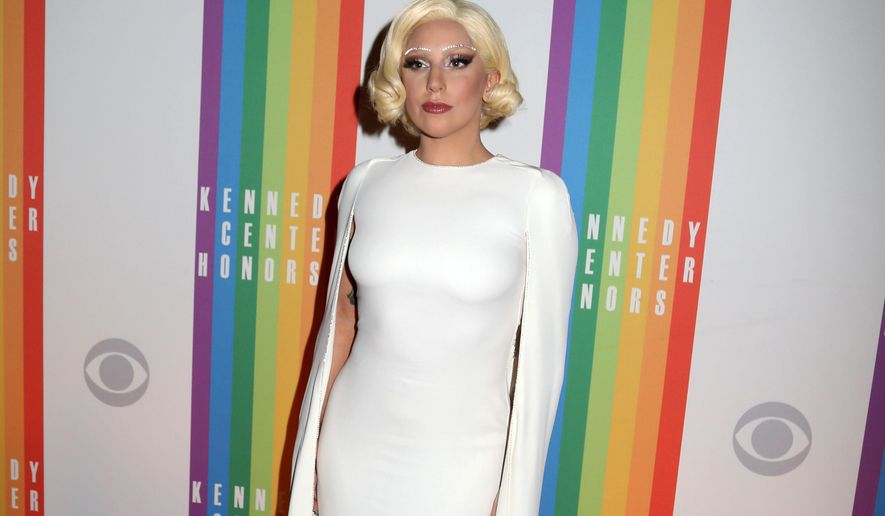 In this Dec. 7, 2014 file photo, Lady Gaga attends the 37th Annual Kennedy Center Honors at The Kennedy Center Hall of States in Washington. (Photo by Greg Allen/Invision/AP, File)