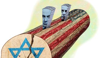 Splitting Congress' Support for the Israeli State Illustration by Greg Groesch/The Washington Times