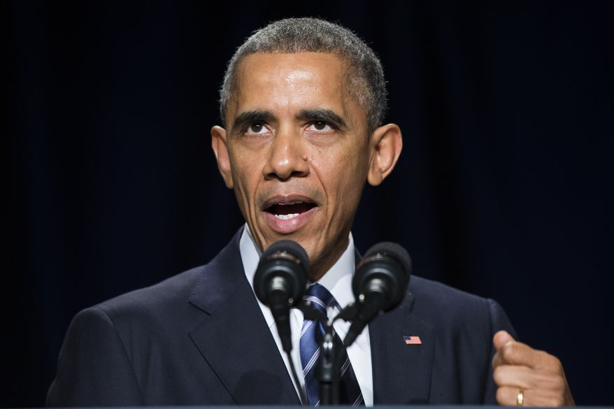 "President Barack Obama speaks during the National Prayer Breakfast in Washington, Thursday, Feb. 5, 2015.   The president condemned those who seek to use religion as a rationale for carrying out violence around the world, declaring Thursday that ""no god condones terror.""   (AP Photo/Evan Vucci)"