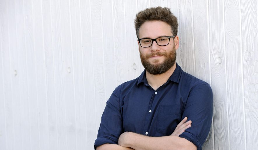"In this Oct. 13, 2014 file photo, actor, co-writer and co-director, Seth Rogen of the film ""The Interview,"" poses for a portrait in Los Angeles. (Photo by Chris Pizzello/Invision/AP, File)"