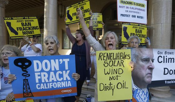 Russia has aligned itself with the anti-fracking movement for fear that aggressive U.S. fracking will cut into Moscow's global gas profits, analysts say. (Associated Press/File)