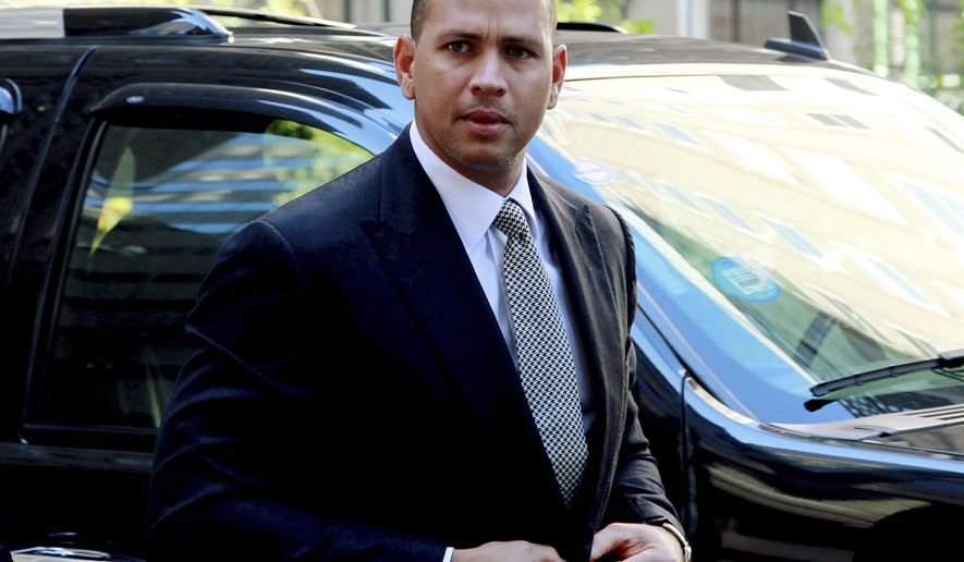 FILE - This Oct. 1, 2013 file photo shows New York Yankees' Alex Rodriguez arrivng at the offices of Major League Baseball in New York. Alex Rodriguez plans to meet with New York Yankees' officials before reporting to spring training. Having served a one-season suspension for violations of baseball's drug agreement and labor contract, Rodriguez is due to start workouts at the team's spring training complex on Feb. 26. (AP Photo/David Karp, File)
