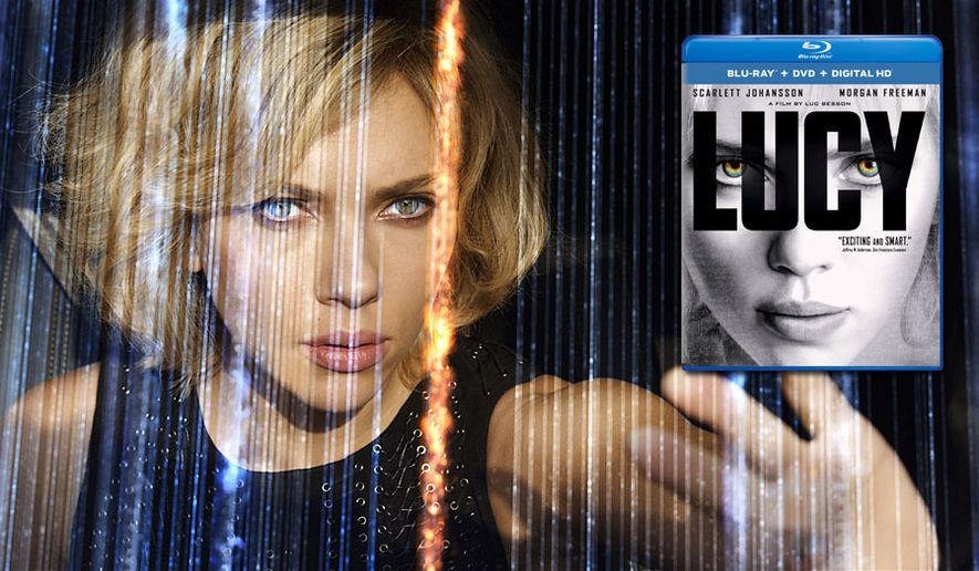Scarlett Johansson stars in Lucy, now available in the Blu-ray format.