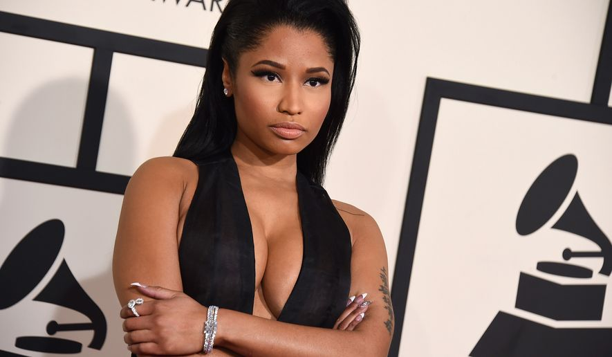 Nicki Minaj arrives at the 57th annual Grammy Awards at the Staples Center on Sunday, Feb. 8, 2015, in Los Angeles. (Photo by Jordan Strauss/Invision/AP)