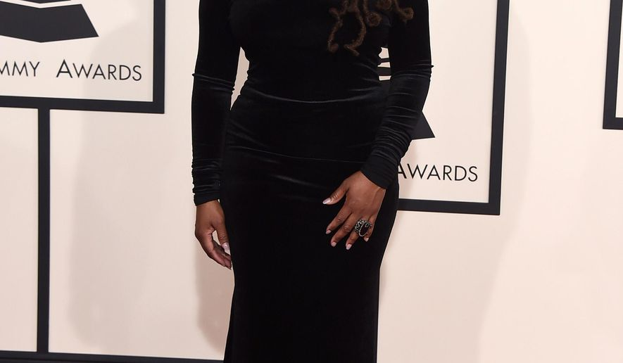 Ledisi arrives at the 57th annual Grammy Awards at the Staples Center on Sunday, Feb. 8, 2015, in Los Angeles. (Photo by Jordan Strauss/Invision/AP)
