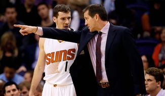 The Phoenix Suns missed the playoffs last season despite finishing 14 games over .500. NBA commissioner Adam Silver is open to tweaking the current playoff format. (Associated Press)