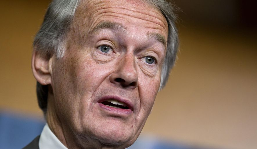 FILE - In this June 18, 2012 file photo, Sen. Edward Markey, D-Mass., speaks on Capitol Hill in Washington. Automakers are cramming cars with wireless technology, but they have failed to adequately protect those features against the real possibility that hackers could take control of vehicles or steal personal data, according to an analysis of information that manufacturers provided to Sen. Markey. Markey asked automakers a series of questions about the technologies and any safeguards against hackers built into their vehicles. He also asked about how the information that vehicle computers gather and often transmit wirelessly is protected. (AP Photo/J. Scott Applewhite, file)