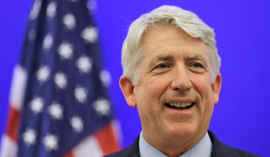 Virginia Attorney General Mark R. Herring said last year he would not defend the state's ban on gay marriage.   (Associated Press) ** FILE**