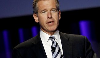 "FILE - In this Oct. 26, 2010 file photo, Brian Williams, anchor and managing editor of ""NBC Nightly News,"" speaks at  the Women's Conference in Long Beach, Calif. NBC says it is suspending Brian Williams as ""Nightly News"" anchor and managing editor for six months without pay for misleading the public about his experiences covering the Iraq War. NBC chief executive Steve Burke said Tuesday, Feb. 10, 2015, that Williams' actions were inexcusable and jeopardized the trust he has built up with viewers during his decade as the network's lead anchor. (AP Photo/Matt Sayles, File)"