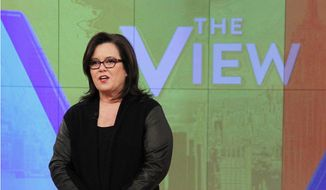 "In this Jan. 29, 2015, photo released by ABC, co-host Rosie O'Donnell appears on the ""The View,"" in New York. (AP Photo/ABC, Lou Rocco) ** FILE **"
