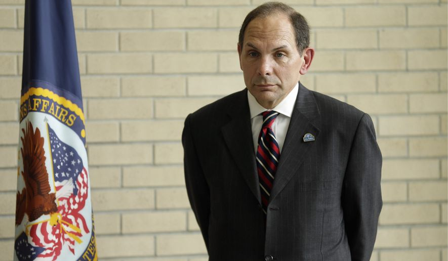"""Veterans Affairs Secretary Robert McDonald says the """"I CARE"""" principles """"focus our minds on our mission of caring and thereby guide our actions toward service to others."""" """"I CARE"""" stands for integrity, commitment, advocacy, respect and excellence. (Associated Press)"""