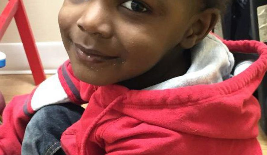 This photo provided by the Detroit Police, shows a 2-year-old child who was found wandering the streets in the area of Linville and Somerset in Detroit, Sunday, Feb. 15, 2015. Police are asking for assistance on locating the parents of the child. (AP Photo/Detroit Police)