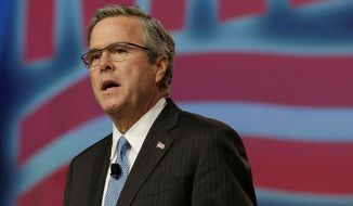 Former Florida Gov. Jeb Bush has a small lead in early polls in New Hampshire. (Associated Press)