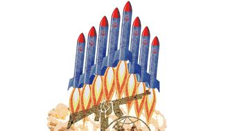 Hezbollah Missiles Supplied by Iran Illustration by Greg Groesch/The Washington Times